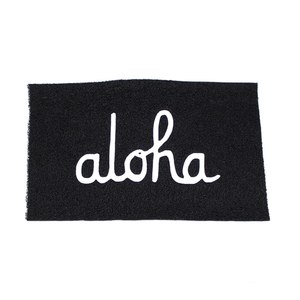 ALOHA SCRIPT WELCOME MAT (ASSORTED COLORS)