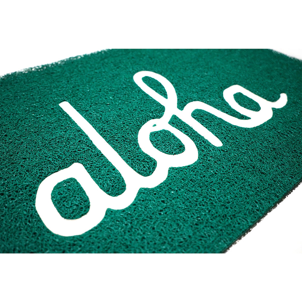 ALOHA WELCOME MAT (KELLY/WHITE)
