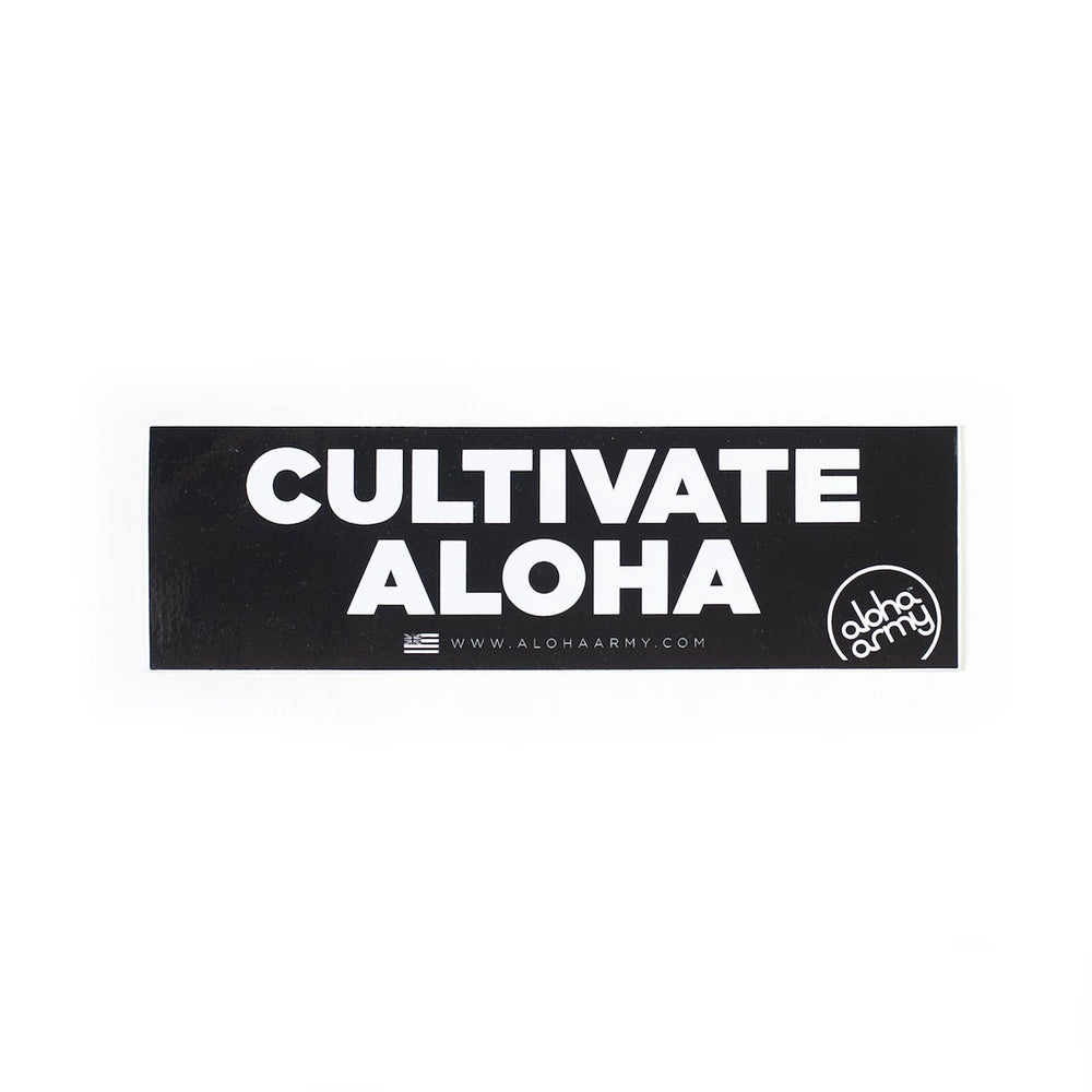 CULTIVATE ALOHA BUMPER STICKER