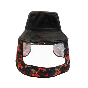 BOBA FLORAL BUCKET FACE SHIELD (BLACK MULTI)