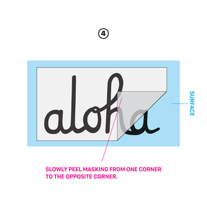 ALOHA SCRIPT DIE CUT STICKER 6 INCH
