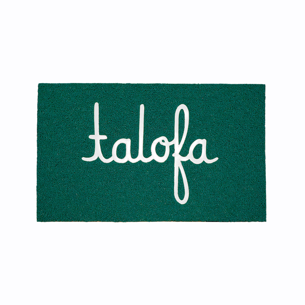 PACIFIC ROOTS X ALOHA ARMY - TALOFA WELCOME MAT (KELLY GREEN)