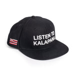 LISTEN TO KALAPANA SNAPBACK (BLACK/WHITE)