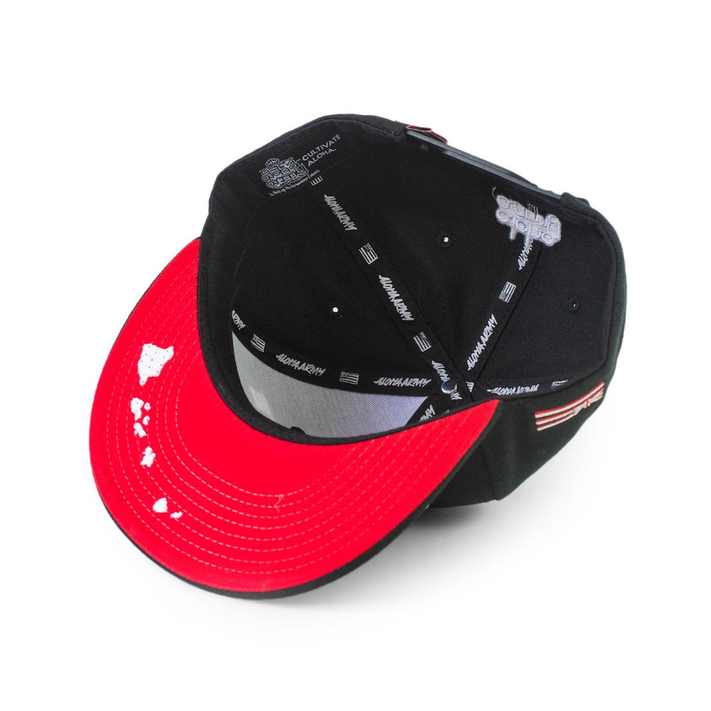 CULTIVATE ALOHA SNAPBACK (BLACK/WHITE/RED)