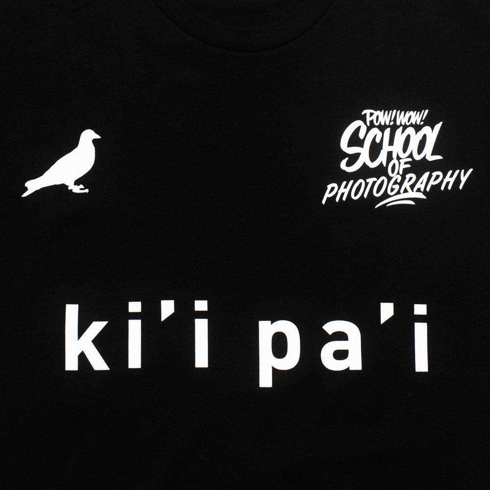 POW WOW PHOTOGRAPHY KI'I PA'I TEE (BLACK)