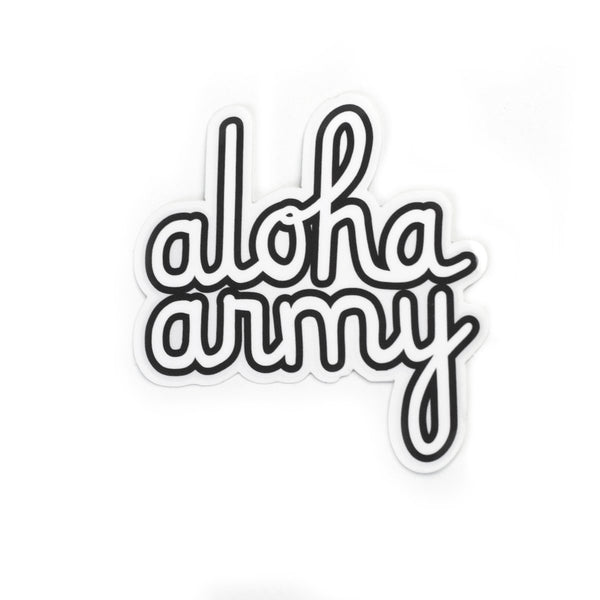 ALOHA ARMY - AA SCRIPT STICKER (MULTI)