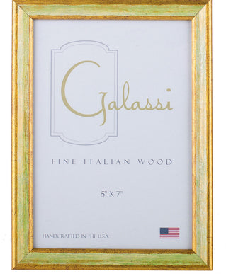 Green and Gold Wood Frame