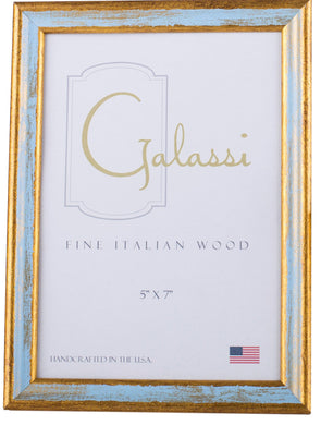 Blue and Gold Wood Frame