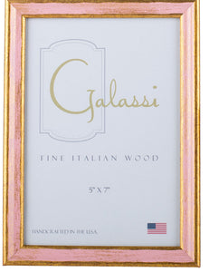 Pink and Gold Wood Frame