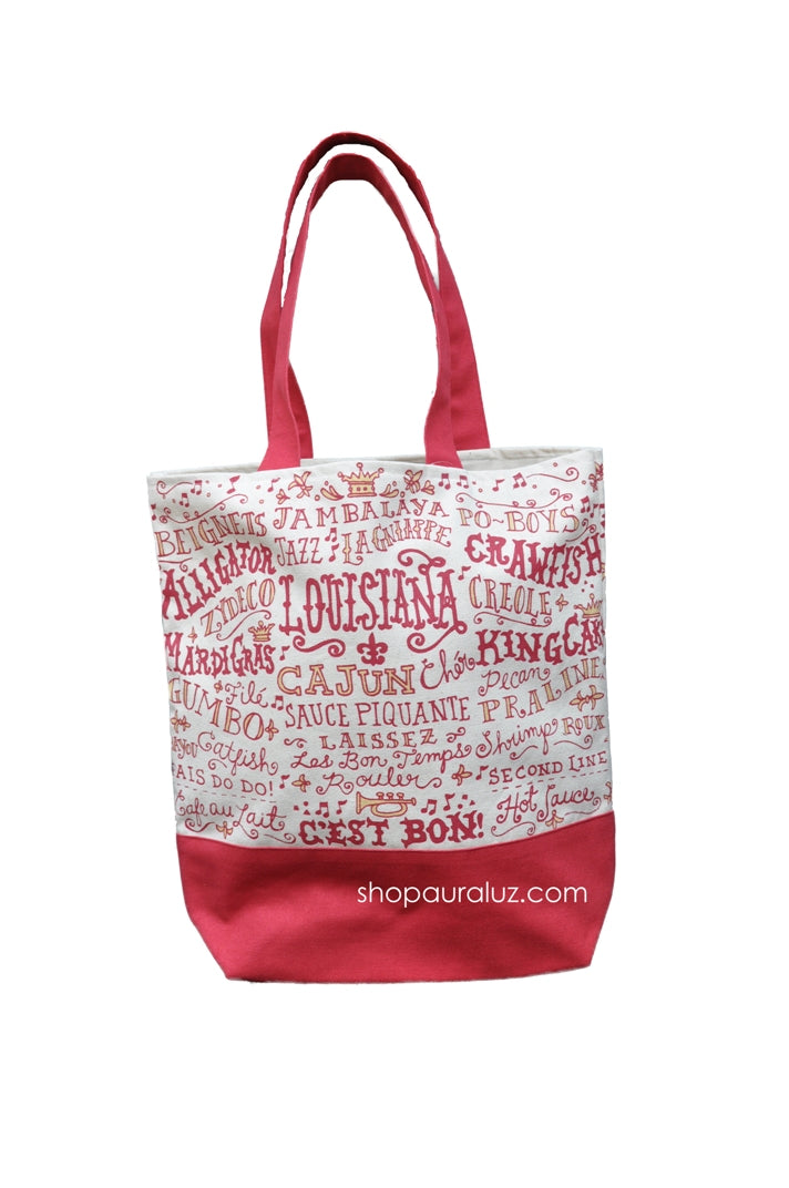 Louisiana Words Tote