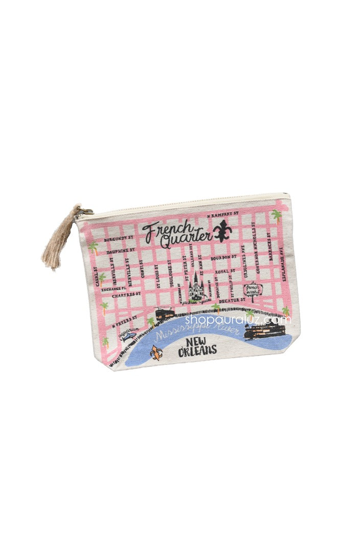 Zippered Pouch - French Quarter