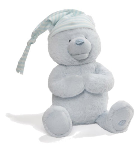 Animated Goodnight Prayer Bear-Blue