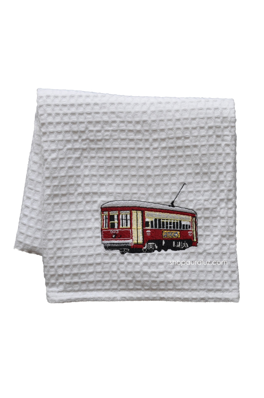 Waffle Weave Towel - Red Streetcar