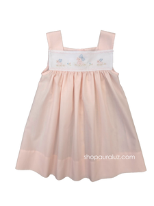 Auraluz Sun Dress..Pink with embroidered duck with bow