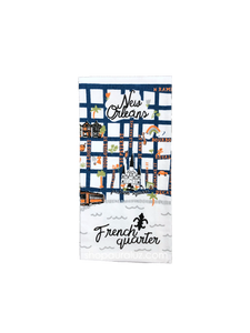 Towel-French Quarter Map