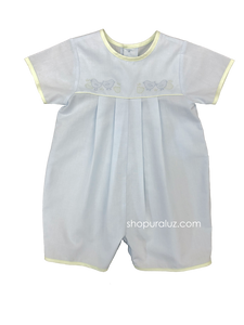 Auraluz Boy Shortall...Blue with green trim and embroidered chicks