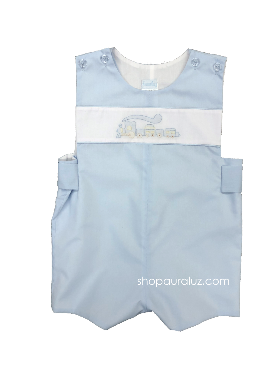 Auraluz Sleeveless Shortall..Blue with embroidered train