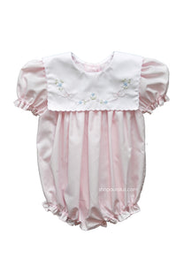 Auraluz Girl Bubble...Pink with embroidered tiny bows