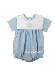 Auraluz Boy Bubble..Blue with embroidered cupcake. STORE EXCLUSIVE!
