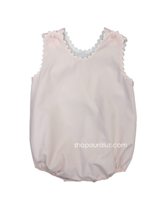 Auraluz Sleeveless Bubble...Pink with white ric-rac trim