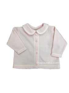 Auraluz Girl Fleece Jacket..Pink with white shiny ribbon trim. STORE EXCLUSIVE!