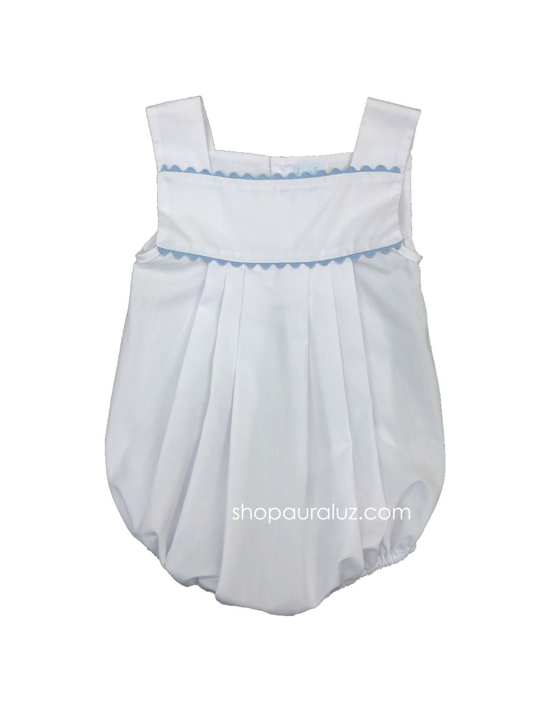 Auraluz Boy Sun Bubble...White with blue ric-rac trim