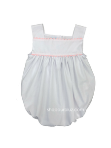 Auraluz Girl Sun Bubble...White with pink ric-rac trim