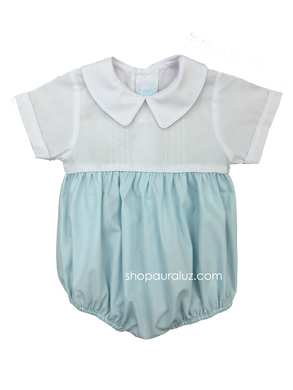 Auraluz Boy Bubble...Blue/white with boy collar and tucks