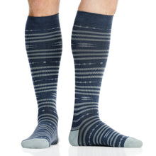 Load image into Gallery viewer, Global Stripe: Dark Blue (Cotton) compression socks