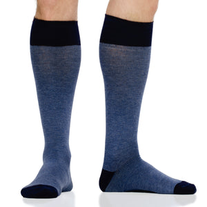 Heathered Collection: Navy (Cotton) compression socks