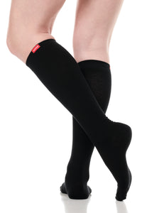 Solid: Black (Cotton) Compression Socks