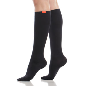 Solid: Black(Moisture-wick Nylon) compression socks
