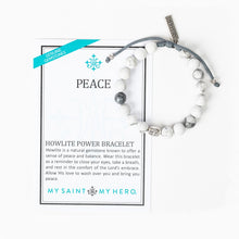 Load image into Gallery viewer, Peace Howlite Power Bracelet