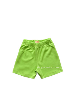 p..yo Knit Shorts-Lime