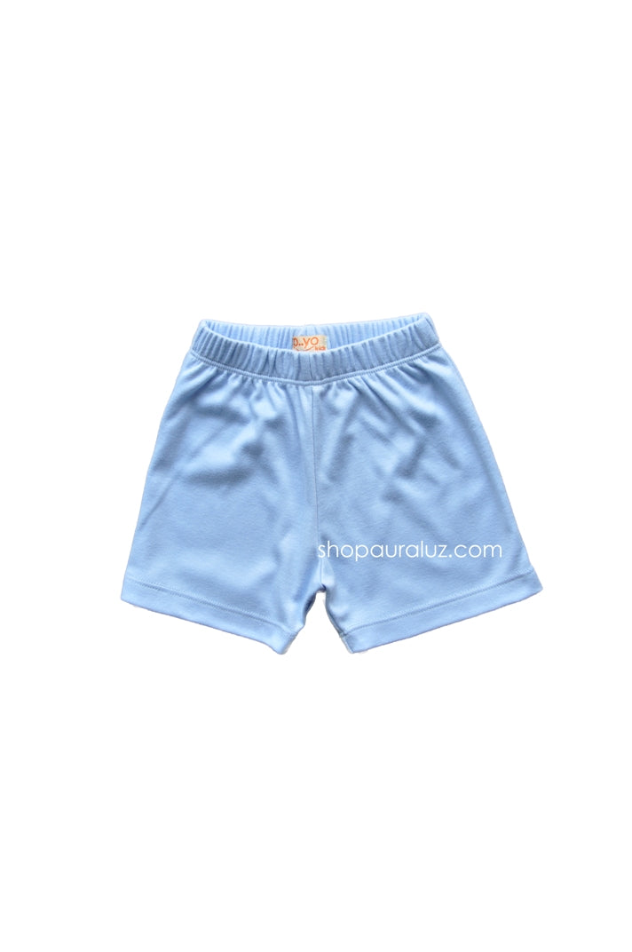 p..yo Knit Shorts-Medium Blue