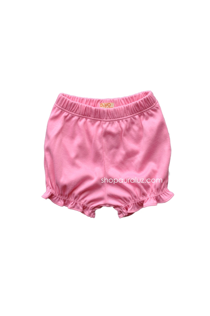 p..yo Knit Bloomers-Hot Pink