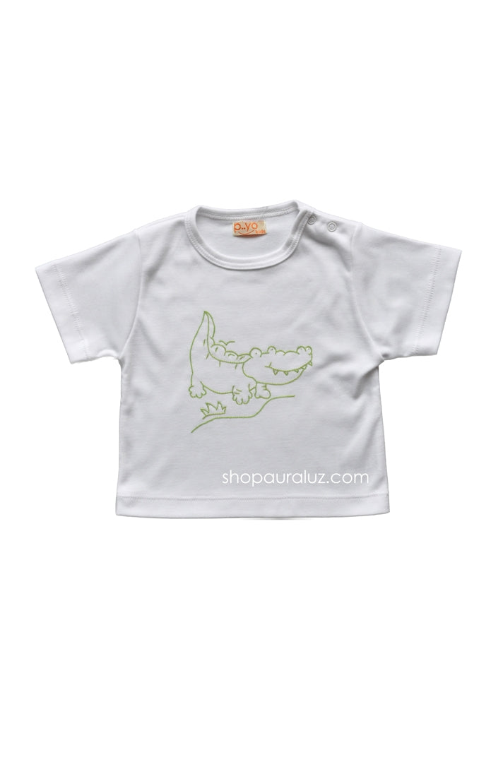 p..yo Knit T-Shirt-Alligator