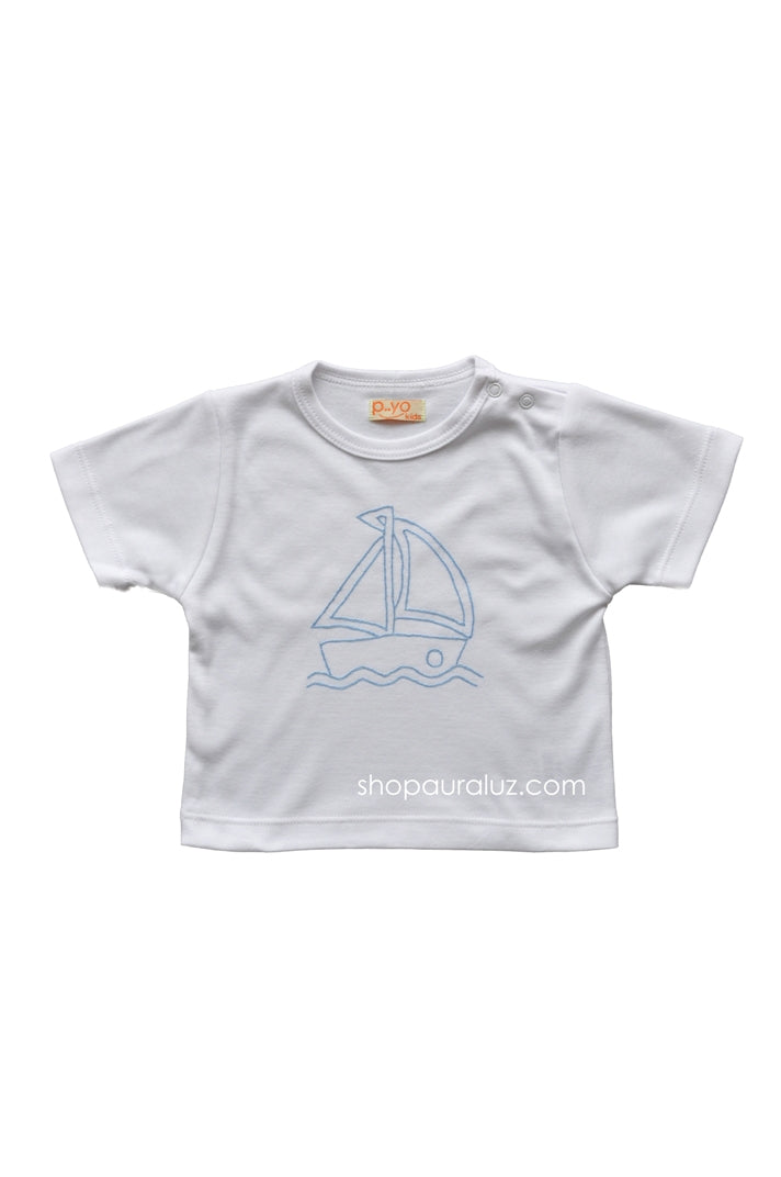 p..yo Knit T-Shirt-Sailboat