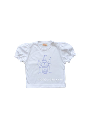 p..yo Knit T-Shirt- Lavender Castle