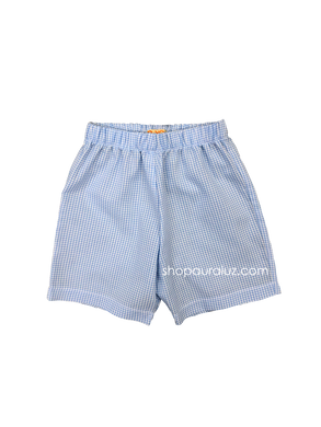 p..yo Gingham Shorts-Blue