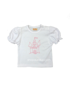 p..yo Knit T-Shirt- Pink Castle