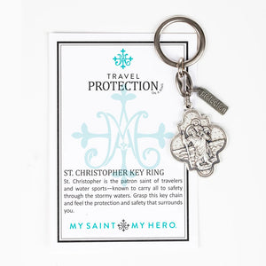 St. Christopher Travel Protection Key Ring