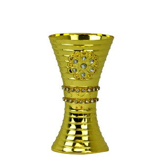 Arabia Incense/Bakhoor Burner (Mabkhara) -Oud Burner, Metal,Tray Inside 5 inch Tall (Golden)