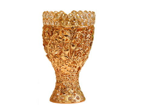 Arab Incense Bakhoor Burner - 10 inch Golden by Intense Oud