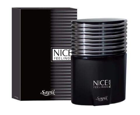 Nice Feelings Black for Men EDT- 75 ML (2.5 oz) by Sapil