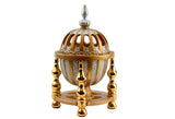 4 Pillar Resin Dome Style Incense Bakhoor/Oud Burner - Gold - Intense oud