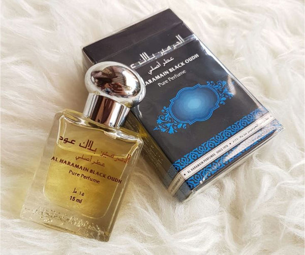 Black Oudh Perfume Oil - 12 ML (0.4 oz) by Al Haramain