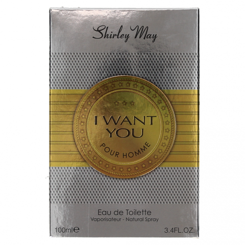 I Want You For Men EDT - 100 mL (3.4 oz) by Shirley May