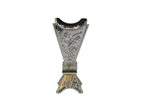 Arab Incense Bakhoor Burner - 12 inch Silver by Intense Oud
