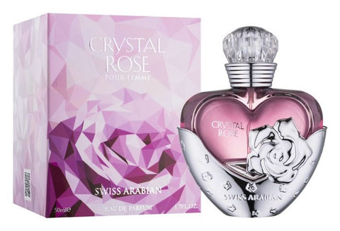 Crystal Rose for Women EDP- 50 ML (1.7 oz) by Swiss Arabian